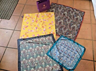 Liberty London. 4  Vintage Silk Scarf-Vibrant Pretty & Crisp