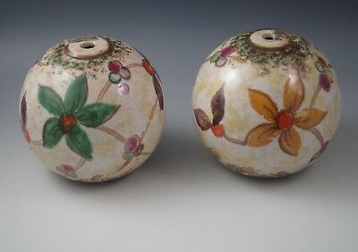 Art Deco Pzh Royal Gouda Holland Lot Of 2 Ceramic Lamps Orig Label