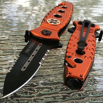 "7.75"" Tac Force Spring Assisted Tactical Emergency Ems Emt Rescue Pocket Knife"