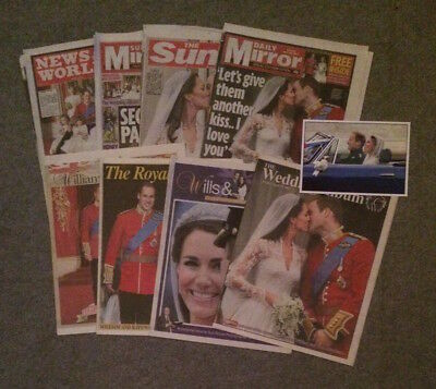 William & Kate Royal Wedding Newspaper Reports/Articles/Supplements April 2011