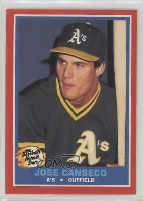 Jose Canseco Oakland As 1987 Rookie Hottest Stars 9 Baseball Card