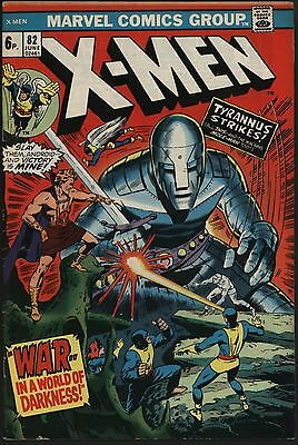 X-Men #82 Vs Tyrannus & The Mole Man! Nice Glossy Cover White Pages