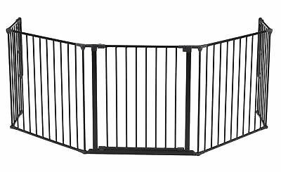 BabyDan Hearth Gate/Room Divider (Extra Large Black) Extra Large