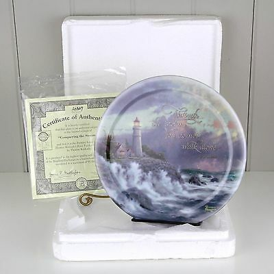 2001 Thomas Kinkade's Have Faith 1st Issue Conquering the Storms Plate COA A5847