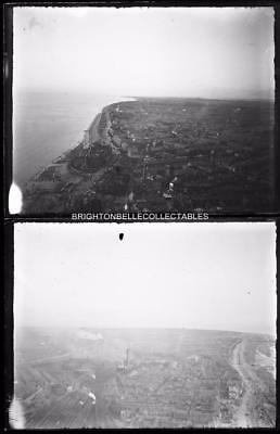 VICTORIAN BLACKPOOL c1900 VIEWS FROM THE TOWER 2 RARE GLASS PLATE NEGATIVES
