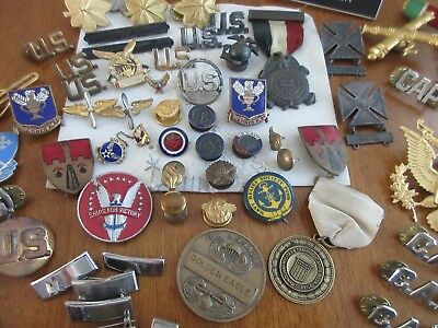 vintage,WW1,WW2,?,military,lot of pins,and other items,coins,NICE LOT!!
