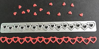 craft die Heart Border, cards, scrapbooking. U.K. Seller