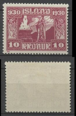 """No: 49747 - ICELAND (1930) - """"PARLIAMENT"""" - AN OLD 10 KR STAMP - MINT HINGED!"""