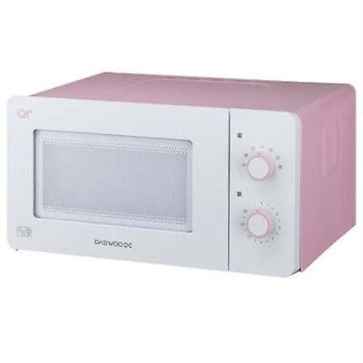 Daewoo QT3 Compact Microwave Oven 14 L 600 W - White/Pink Pink