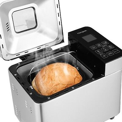 Homgeek Bread Machine Home Bakery Bread Maker with 22 Programmable Menus Sett...
