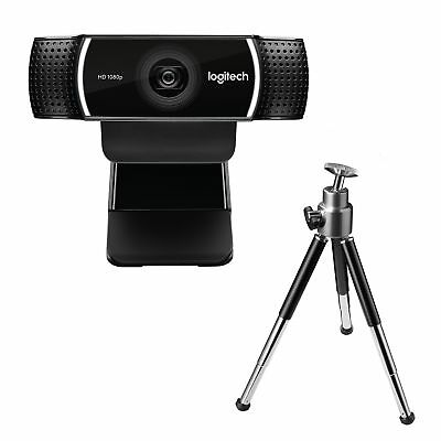 Logitech C922 Pro Stream Full HD Webcam with Mic and Adjustable Tripod (Works...