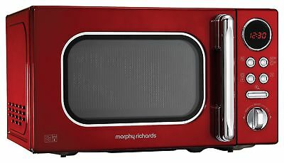 Morphy Richards Accents Colour Collection 511502 20L Digital Solo Microwave Red