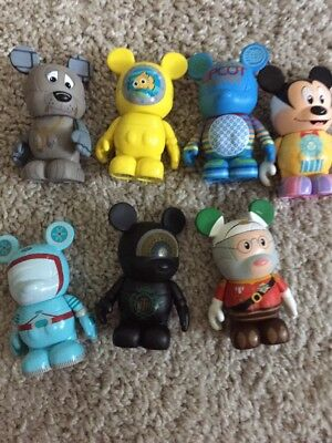 """Disney 3"""" Vinylmation Park Series #4 VERY RARE INCLUDES CHASER Set Of 7"""