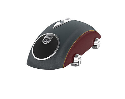 Indian Chieftain Roadmaster Concert Audio Saddlebag Lids Gray Burgundy