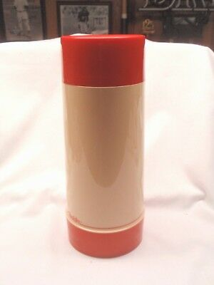 Vintage Large Quart Size Aladdin Red & Cream Thermos Complete - Ex. Condition!