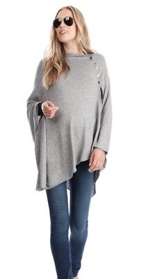 Seraphine Maternity Grey Bamboo Breastfeeding Nursing Cover Up Wrap Shawl