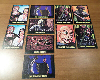 The Outer Limits Trading Cards: 10 Vintage Bubbles Cards In Superb Shape!
