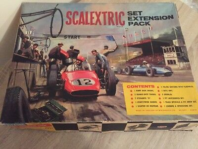 Scalextric Model Motor Racing HP1 Set Extension Park Boxed 1960s Vintage