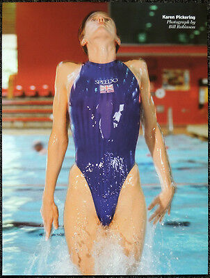 Karen Pickering Poster Page . 2002 Commonwealth Games Swimming . R163