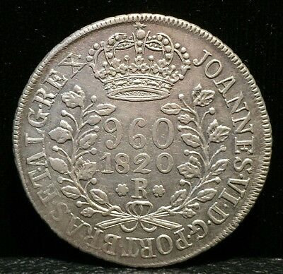 1820 Brazil 960 Reis Silver Coin No Reserve Auction!!!!!