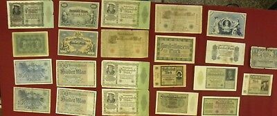 Vintage 1920's Pre WWII Money German-German Marks-Various Denominations-See Pics