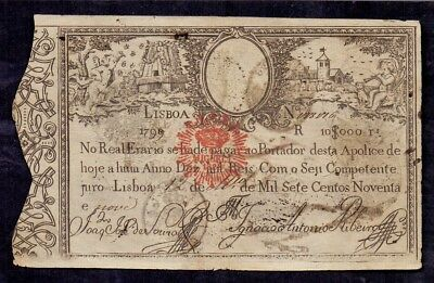 10000 Reis from Portugal 1828
