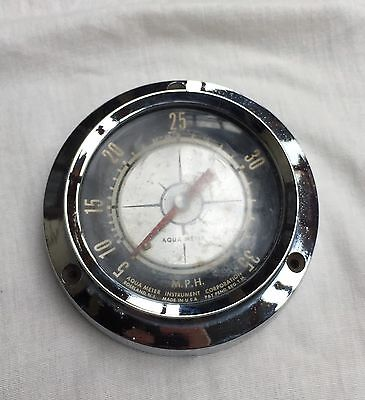 Vintage Aqua-Meter Marine Speedometer  - 5mph to 35 Mph - Meter And Light Work