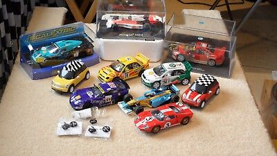 Scalextric Slot cars x10 - All in Good Condition