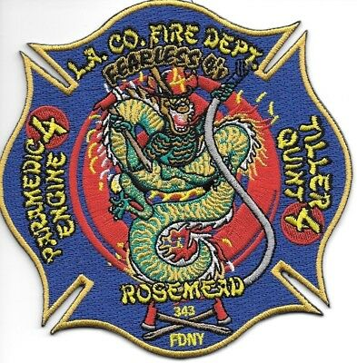 Los Angeles County  Station - 4 , California <Fearless 4's-Rosemead> fire patch