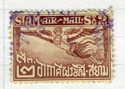 THAILAND;  1925 early Garuda Air issue fine used 2s. value Perf 12.5 issue