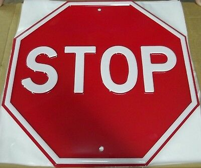"30"" Embossed Steel Stop Sign"