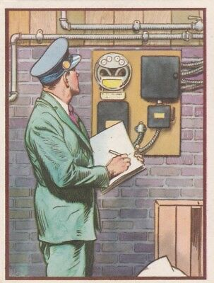 "READING AN ELECTRIC METER - 1942  COCA-COLA  "" electricity series "" card PREMIUM"