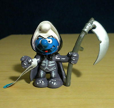 Smurfs Grim Reaper Halloween Smurf Figure Vintage Toy Decoration PVC Peyo 20545