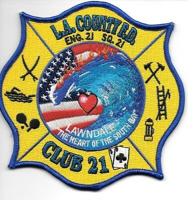 Los Angeles County  Station - 21, California <Club 21 - Lawndale> fire patch