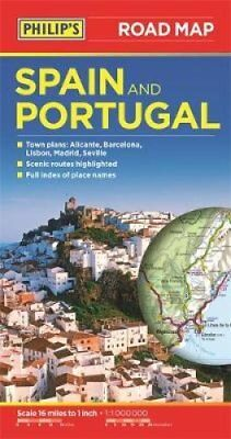 Philip's Spain and Portugal Road Map 9781849073608 (Paperback, 2015)