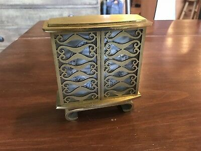 Stunning Vtg Le Coultre 8-Day Brass Desk Clock W/ Sliding Doors