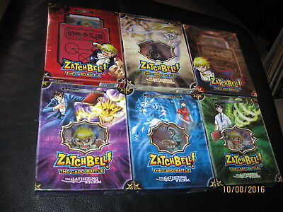 Zatchbell The Gathering Storm starter sets 1&2 Sealed 4 boxes booster sets NIP
