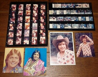 DAVID CASSIDY ORIGINAL 1970s PRESS PHOTOS CONTACT SHEETS COMPLETE & CLIPPED