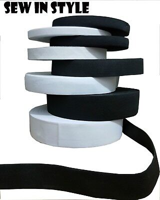 Black & White Stretch Elastic Flat Elastic  Fast Dispatch