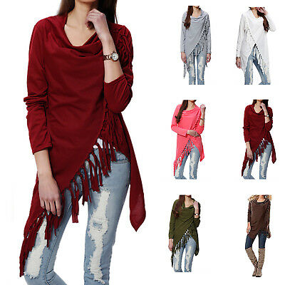 Women's Winter Loose Long Sleeve Cotton Casual T Shirt Tunic Tops Fashion Blouse