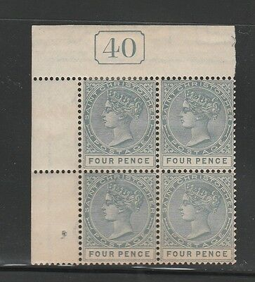 Kappysstamps (34) St Christopher St Kitts Sc #8 Control Block Mnh/never Mounted