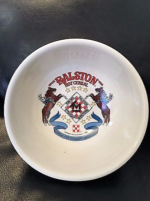 Vintage Set Of 2  Ralston Hot Cereal Bowls For Straight Shooters Tom Mix