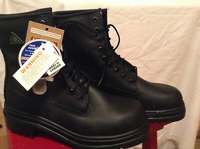 New Canadian Military Csa Approved Steel Toe Boots Size 9 Made In Canada