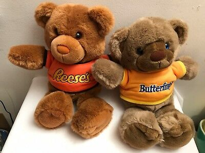1987 NWT Chocolate Chums CRUNCHLES & BUDDY NUTTY BUTTERFINGER, REESES Teddy Bear