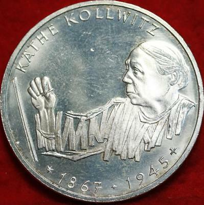 Uncirculated 1992 Germany 10 Mark Foreign Silver Coin Free S/H