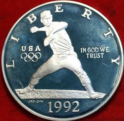 Uncirculated 1992-S Olympic Baseball Silver Dollar Proof Free S/H