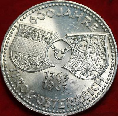 Uncirculated 1963 Austria 50 Schilling Silver Foreign Coin Free S/H