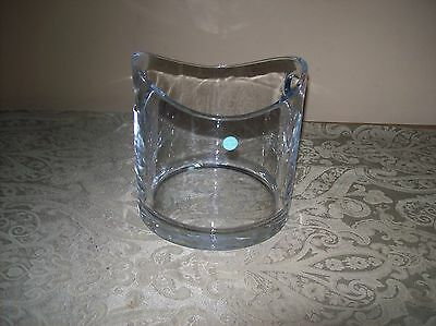TIFFANY & CO Crystal Modern Champagne Wine Bottle Cooler Ice Bucket