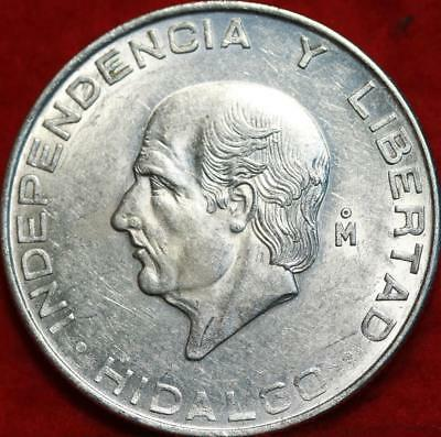 Uncirculated 1956 Mexico 5 Pesos Silver Foreign Coin Free S/H!