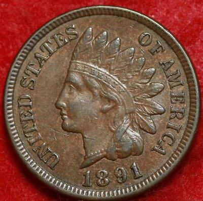 1891 Philadelphia Mint Copper Indian Head Cent Free Shipping
